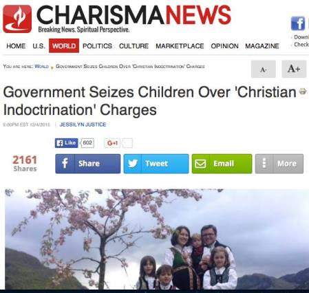 Charisma magazine featuring Bodnariu family