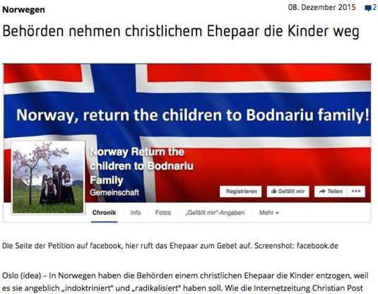 Familia Bodnariu in presa Germana