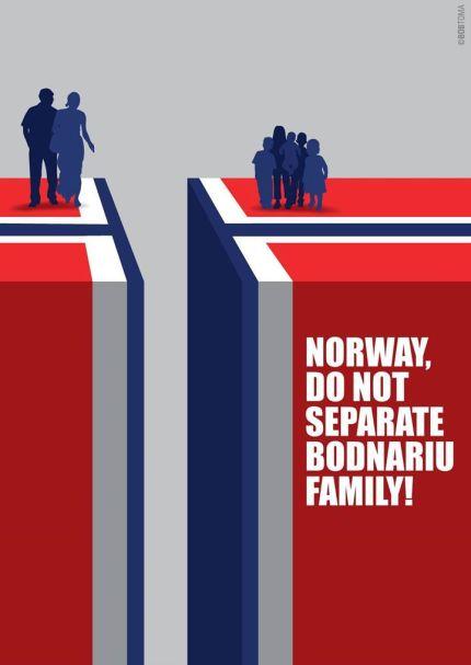 una dintre pancardele pregatite pentru protestul in fata ambasadei norvegiene