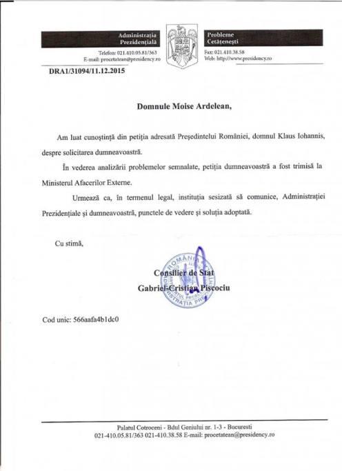 Presedentia-Romaniei-adresa-raspuns-cazul-Bodnariu-2