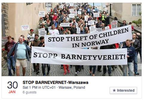 STOP BARNEVERNET Protest POLAND_ Warsaw 2016 January 30