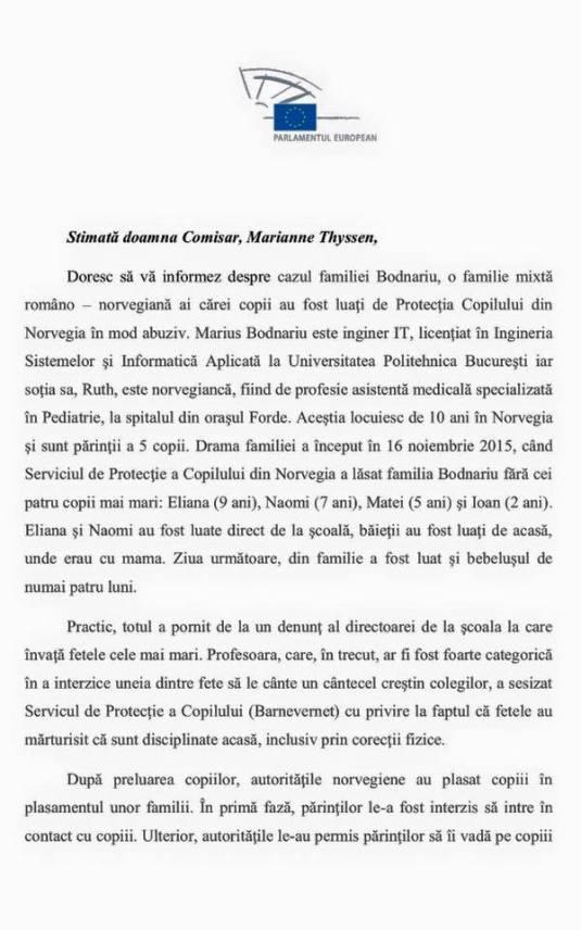 Scrisoare Daniel Buda Page 1