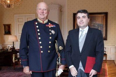 Adrian Gabriel Davidoiu, noul ambasador al României în Regatul Norvegiei, la Oslo din 24 septembrie 2015 Photo www.jurnaldenord.info