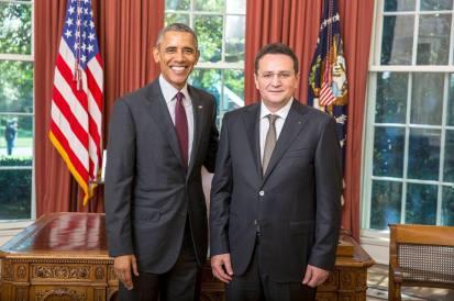 Clujeanul George Cristian Maior și-a prezentat scrisorile de acreditare Președintelui SUA Barack Obama PHOTO via