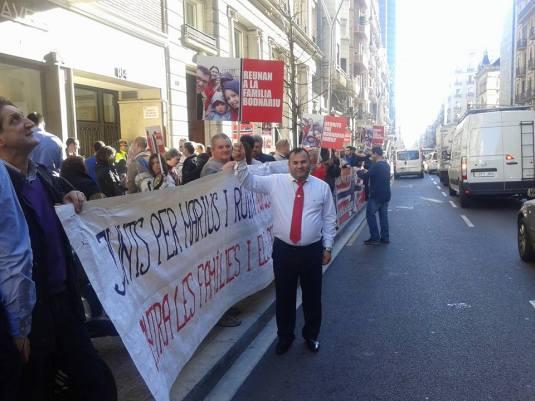Claudiu Traian Elim Arganda Protest Spania