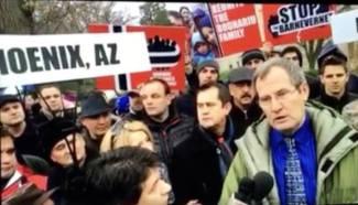 Cornel Avram PROTEST Washington D.C. 8 ianuarie 2016 #BODNARIU