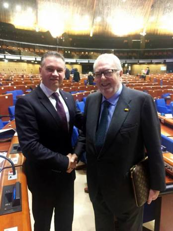 Senatorul Ben-Oni Ardelean cu Presedintele Adunarii Parlamentare a Consiliului Europei, Pedro Agramunt