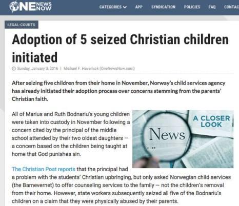 Familia Bodnariu presa Americana One News Now