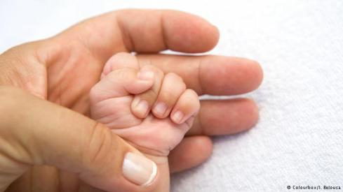father child hand