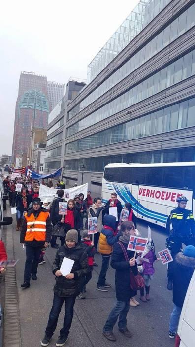 Hague Bodnariu protest 2