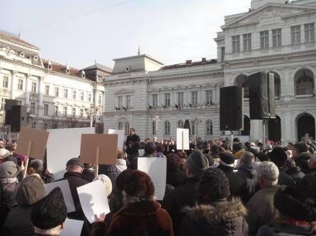 Moise Ardelean Protest Arad Bodnariu