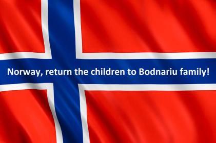 Norway return the children to Bodnairu family flag