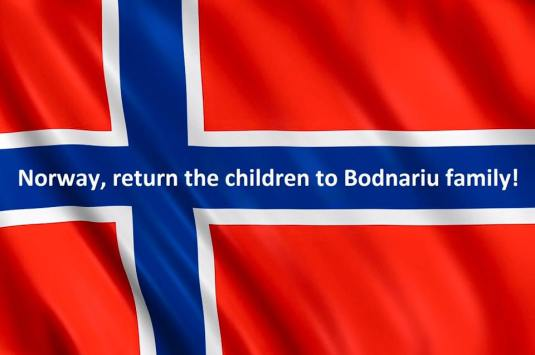 Norway return the children to Bodnairu family flag