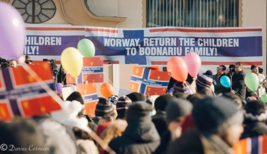 NORWAY Bodnariu protest