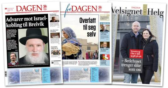 old front pages of Dagen Photo credit