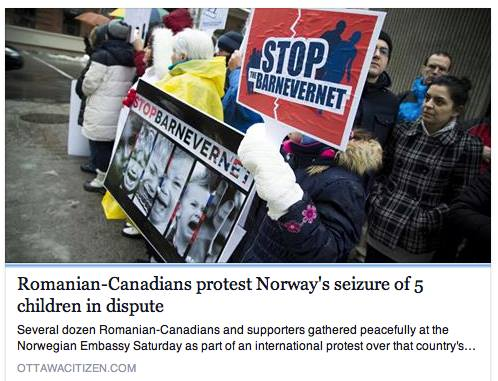 Ottawa Citizen reports on BODNARIU Protest in Ottawa