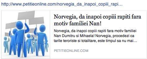Petitie online familia Nan