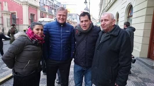 Praga protest Bodnariu cu Marius Reikeras