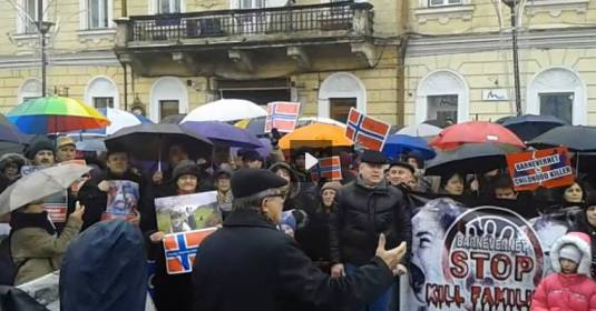 PROTEST Barnevernet la Cluj Napoca #BODNARIU