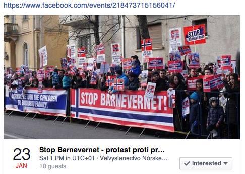 Protest Bratislava fam. Bodnariu