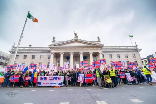 Protest in sustinerea familiei Bodnariu DUBLIN Irlanda 24 ianuarie