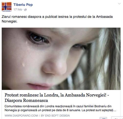 Protest la Londra fam BODNARIU