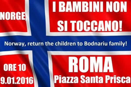 Protest la Roma fam. Bodnariu, de la Vasile Nita