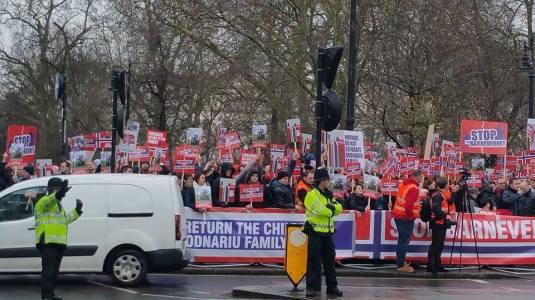 Protest London, England January 8,2016 Biserica Speranta Si Har