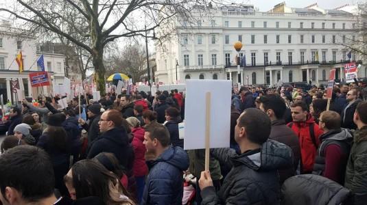 Protest Londra 8 ianuarie 2016 BODNARIU