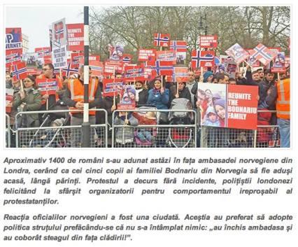 Romanii au iesit la protest #BODNARIU in LONDRA 8 ianuarie 2016