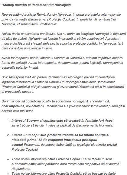 Scrisoare catre Parlamentul Norvegiei part 1