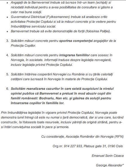 Scrisoare catre Parlamentul Norvegiei part 2