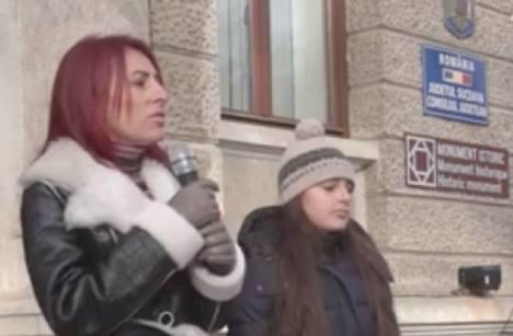 Steliana Miron Protest Suceava