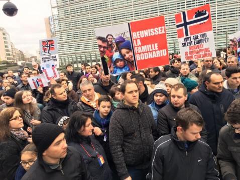 Stop Barnevernet Protest Bruxelles 3