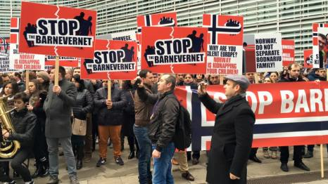 STOP Barnvernet Protest Bruxelles