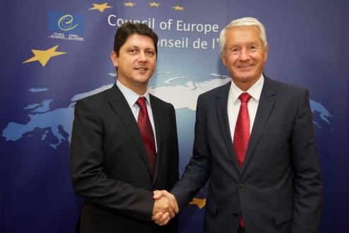 Titus Corlatean cu Secretarul General al Consiliului European Thorbjorn Jagland