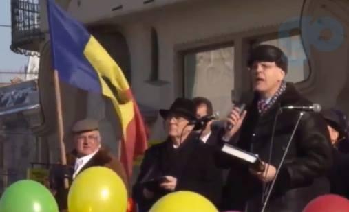 Viorel Iuga Protest Oradea 23 ianuarie 2016