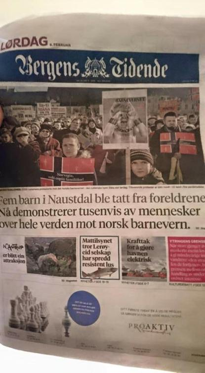 1 newspaper in Norway, Bergens Tidende, covers the Bodnariu case and the world wide protests against Norwegian Human Rights crimes