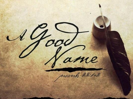 Proverbe A good name pen ink write