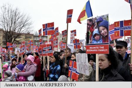 Galați: Miting de susținere pentru familia Bodnariu Photo credit Ana Maria Toma Agerpres