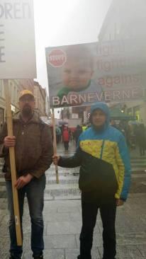 Protest Oslo 20 feb Photo credit L. Dumitrascu