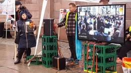 Dr. Chris Prunean featured in Oslo Protest - Photo credit Bjørn Erik Bjorbekkmo