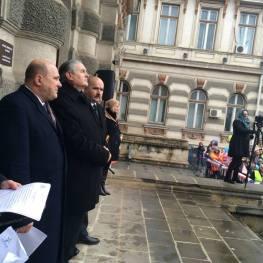 Photo Baraiac Bogdan Protest pentru sustinerea familiei Bodnariu 13 Februarie BACAU