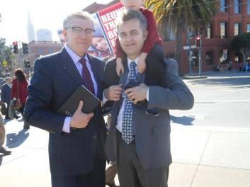 Cristian Ionescu, Alin Bob Protest San Francisco 1