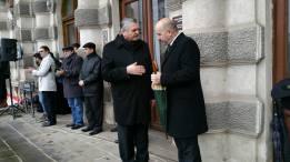 La evenimentul de la Bacau, a participat si Viceprimarul orasului, domnul Ilie Birzu cu Mircea Lubanovici