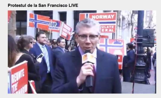 Pastorul Cristian Ionescu Protest la San Francisco