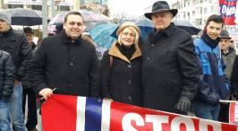 Mircea & Mona Lubanovici Protest Bacau