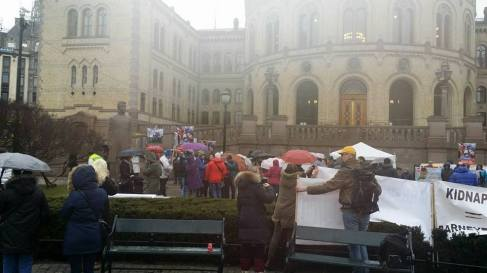 Protest Oslo, Norway 20 feb 2016 Lavinia Dumitrascu 2