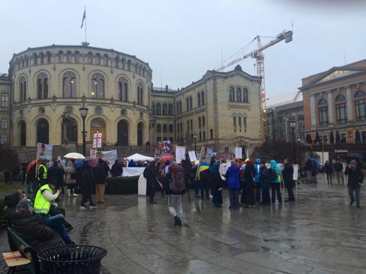 Protest Oslo, Norway 20 february 2016 Photo Julianna Weber