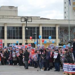 Protest la Zalau Photo www.magazinsalajean.ro